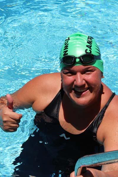 Meet new people swimming