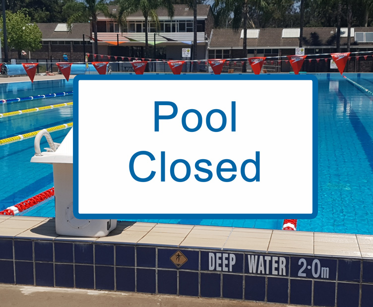 COVID-19 pool closed