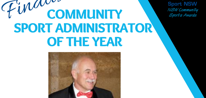 Greg finalist Sport NSW community sports awards 2021