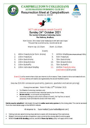 Carnival flyer 24th Oct 2021